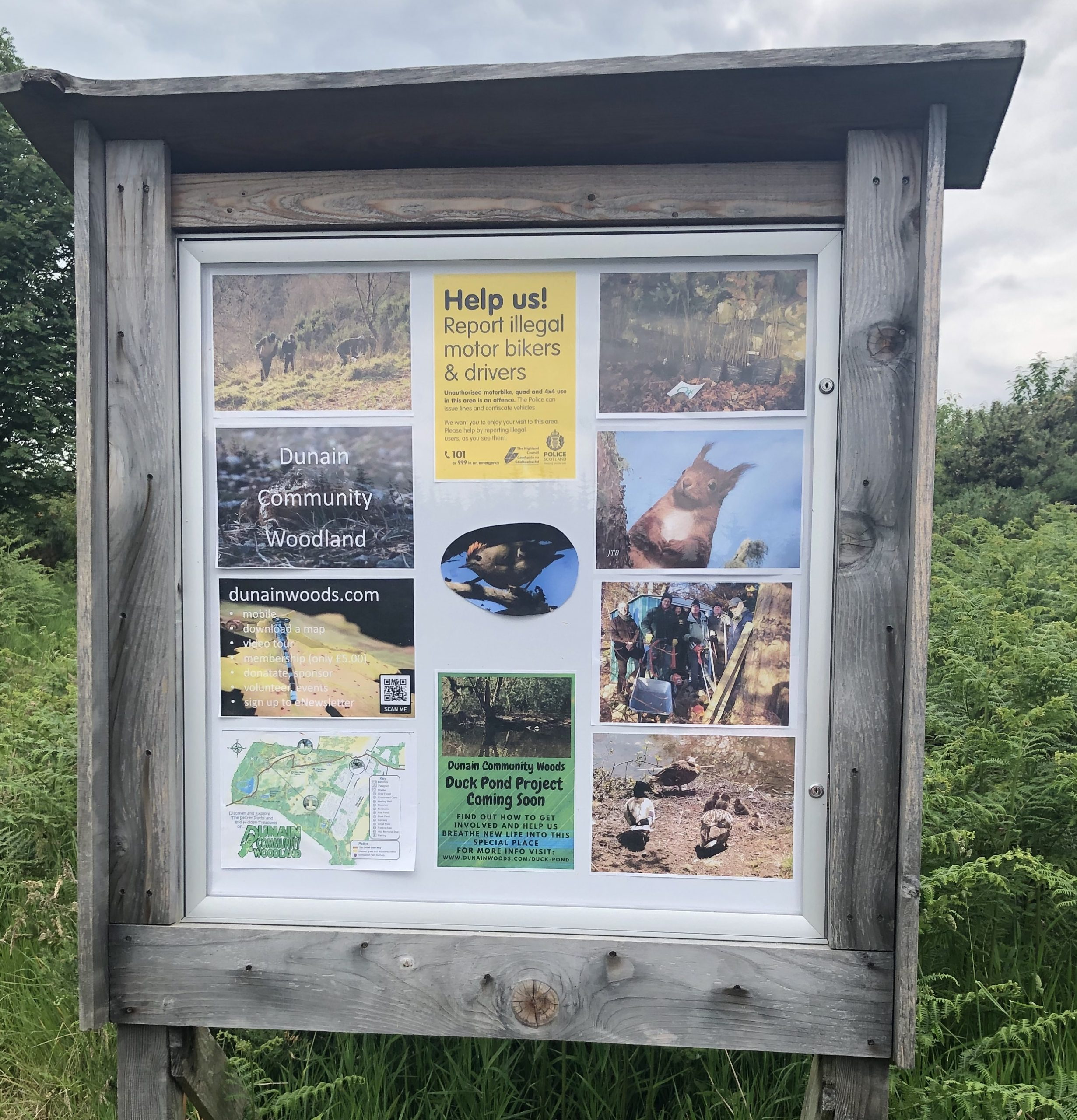 Dunain Community Woodlands Notice Board